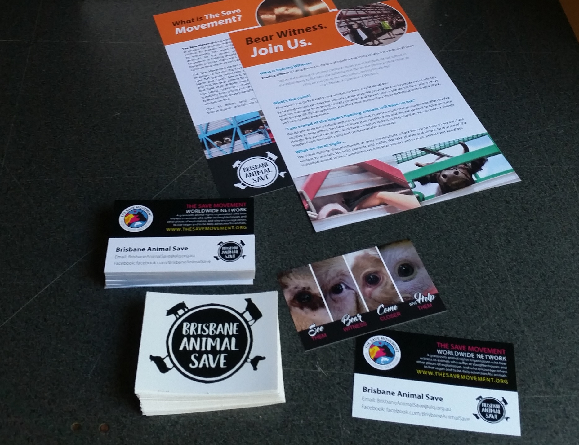Brochures, business cards, stickers